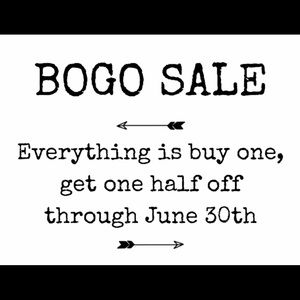 BOGO SALE! Now until the end of the month !